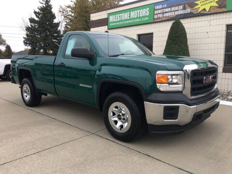 2015 GMC Sierra 1500 for sale at MILESTONE MOTORS in Chesterfield MI