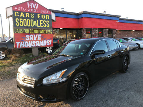 2013 Nissan Maxima for sale at HW Auto Wholesale in Norfolk VA