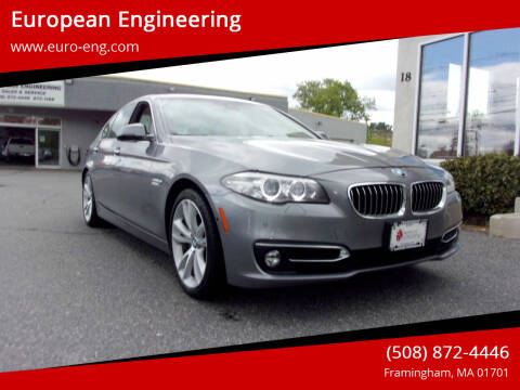2016 BMW 5 Series for sale at European Engineering in Framingham MA