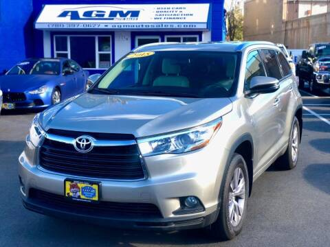 2015 Toyota Highlander for sale at AGM AUTO SALES in Malden MA