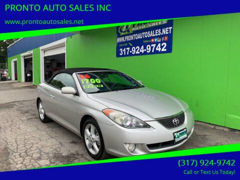 2006 Toyota Camry Solara for sale at PRONTO AUTO SALES INC in Indianapolis IN