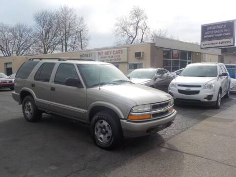 2002 Chevrolet Blazer for sale at Gregory J Auto Sales in Roseville MI