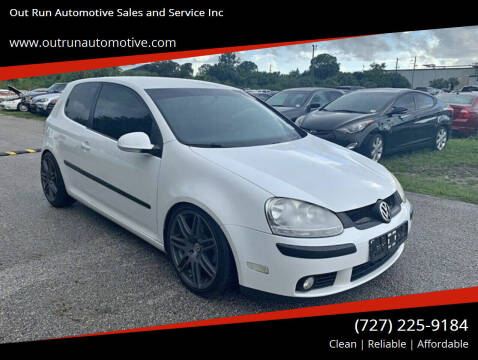 2007 Volkswagen Rabbit for sale at Out Run Automotive Sales and Service Inc in Tampa FL