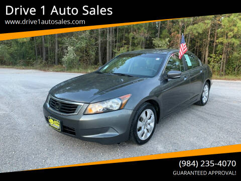 2010 Honda Accord for sale at Drive 1 Auto Sales in Wake Forest NC