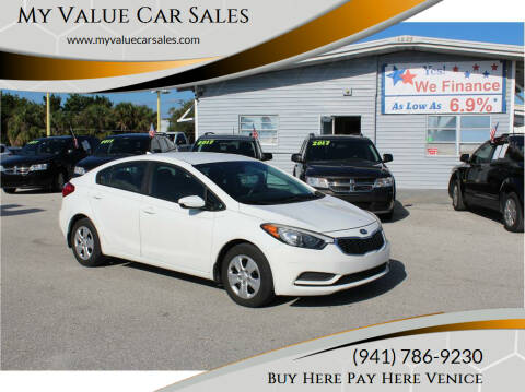 2016 Kia Forte for sale at My Value Car Sales in Venice FL