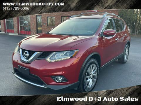 2014 Nissan Rogue for sale at Elmwood D+J Auto Sales in Agawam MA