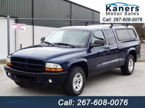 2002 Dodge Dakota for sale at Kaners Motor Sales in Huntingdon Valley PA