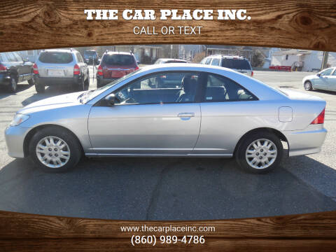 2004 Honda Civic for sale at THE CAR PLACE INC. in Somersville CT