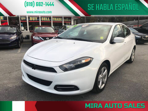 2015 Dodge Dart for sale at Mira Auto Sales in Raleigh NC