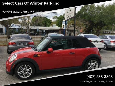 2012 MINI Cooper Convertible for sale at Select Cars Of Winter Park Inc in Orlando FL