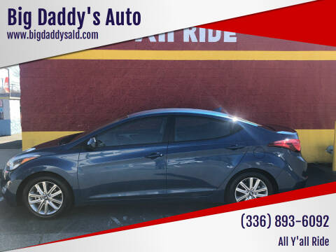 2014 Hyundai Elantra for sale at Big Daddy's Auto in Winston-Salem NC