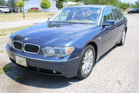 2002 BMW 7 Series for sale at Great Lakes Classic Cars & Detail Shop in Hilton NY