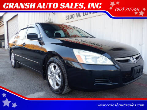 2007 Honda Accord for sale at CRANSH AUTO SALES, INC in Arlington TX