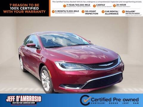 2016 Chrysler 200 for sale at Jeff D'Ambrosio Auto Group in Downingtown PA