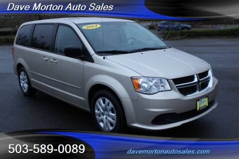 2014 Dodge Grand Caravan for sale at Dave Morton Auto Sales in Salem OR