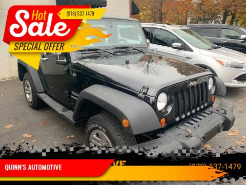 2011 Jeep Wrangler for sale at QUINN'S AUTOMOTIVE in Leominster MA