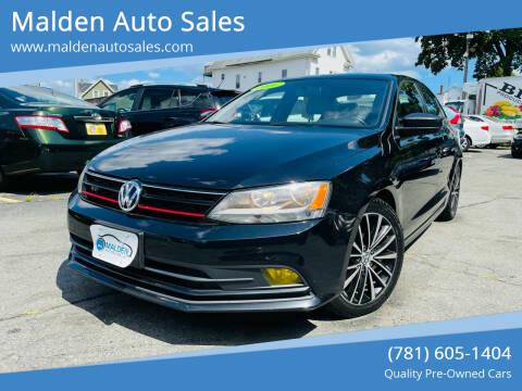 2016 Volkswagen Jetta for sale at Malden Auto Sales in Malden MA