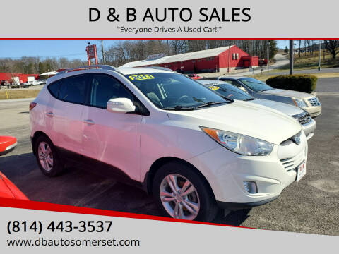 2013 Hyundai Tucson for sale at D & B AUTO SALES in Somerset PA