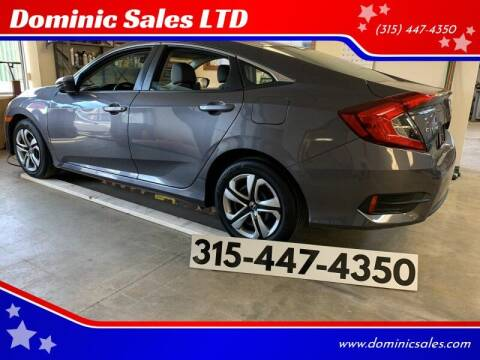 2017 Honda Civic for sale at Dominic Sales LTD in Syracuse NY