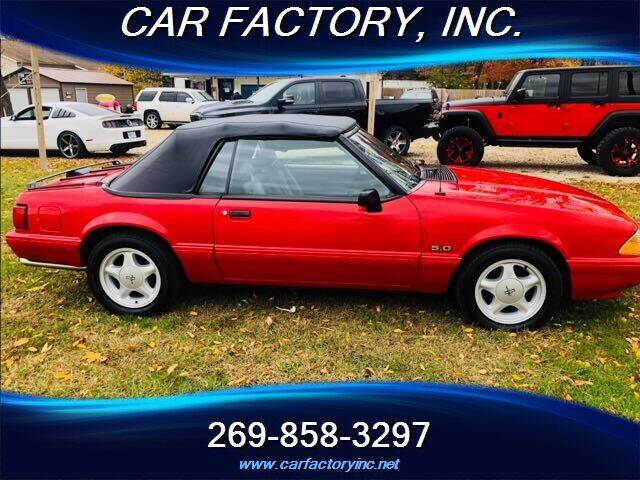 1993 Ford Mustang for sale at Car Factory Inc. in Three Rivers MI