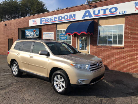 2012 Toyota Highlander for sale at FREEDOM AUTO LLC in Wilkesboro NC