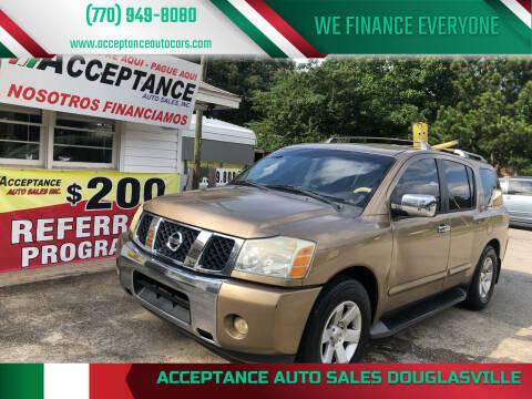 2004 Nissan Armada for sale at Acceptance Auto Sales Douglasville in Douglasville GA