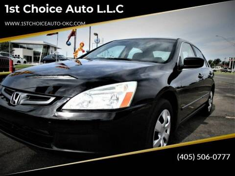 2005 Honda Accord for sale at 1st Choice Auto L.L.C in Oklahoma City OK