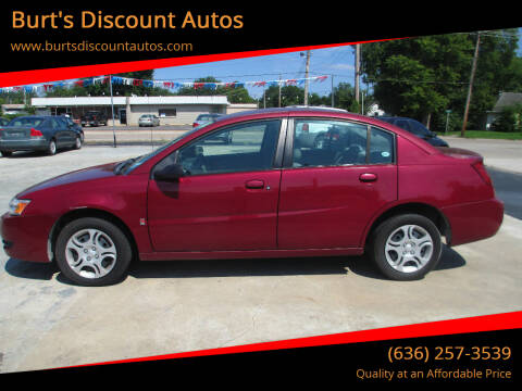 2004 Saturn Ion for sale at Burt's Discount Autos in Pacific MO