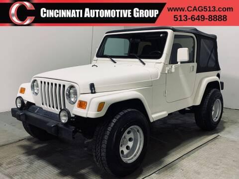 2000 Jeep Wrangler for sale at Cincinnati Automotive Group in Lebanon OH