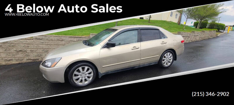 2003 Honda Accord for sale at 4 Below Auto Sales in Willow Grove PA