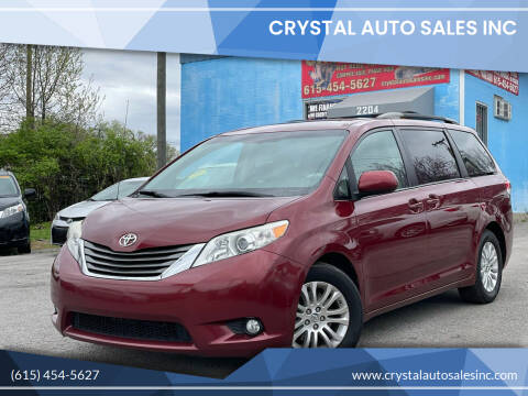 2014 Toyota Sienna for sale at Crystal Auto Sales Inc in Nashville TN