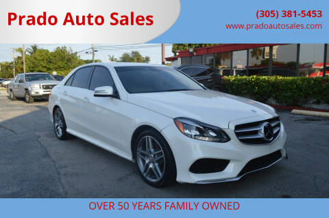 2014 Mercedes-Benz E-Class for sale at Prado Auto Sales in Miami FL