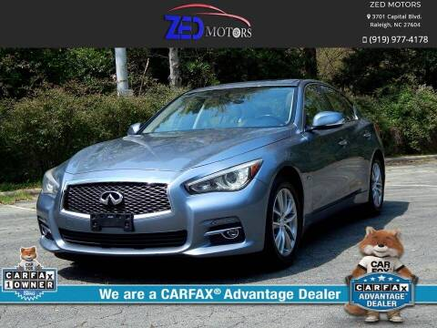 2014 Infiniti Q50 for sale at Zed Motors in Raleigh NC