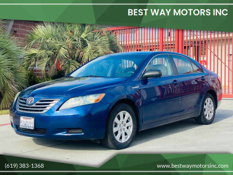 2007 Toyota Camry Hybrid for sale at BEST WAY MOTORS INC in San Diego CA