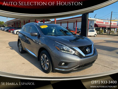 2018 Nissan Murano for sale at Auto Selection of Houston in Houston TX