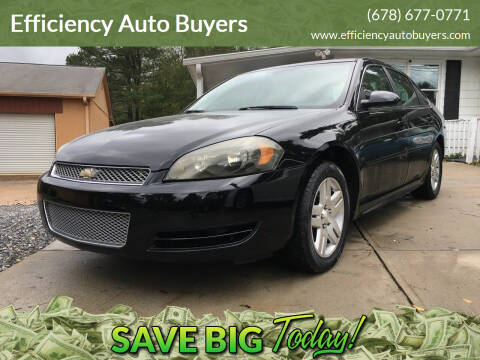 2013 Chevrolet Impala for sale at Efficiency Auto Buyers in Milton GA