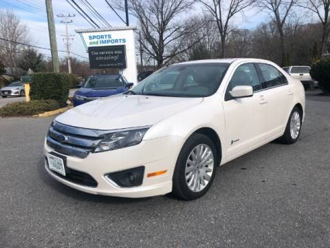2012 Ford Fusion Hybrid for sale at Sports & Imports in Pasadena MD