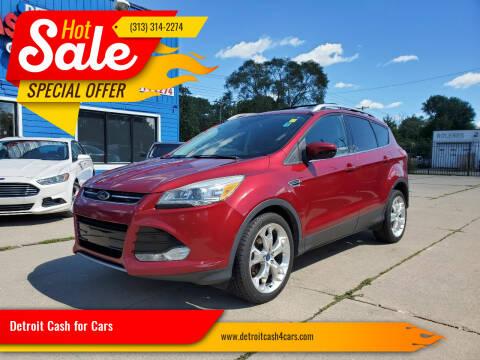 2013 Ford Escape for sale at Detroit Cash for Cars in Warren MI