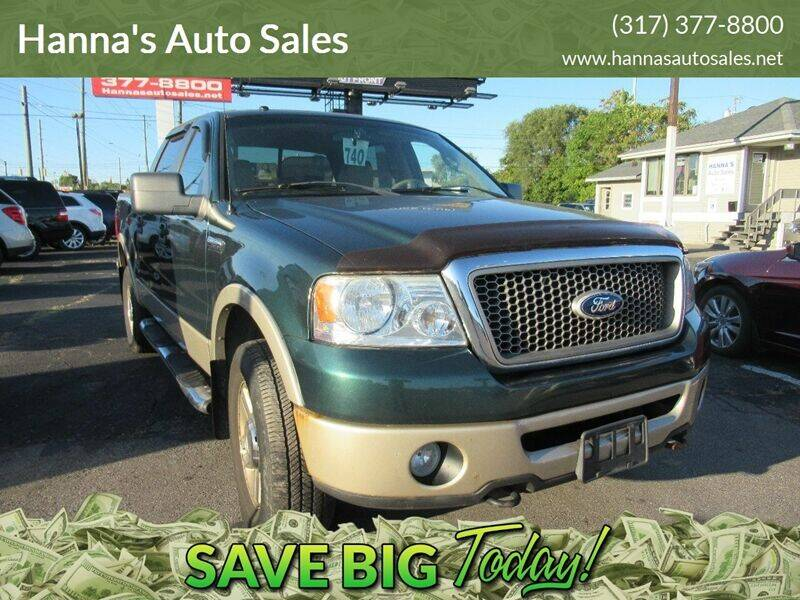 2007 Ford F-150 for sale at Hanna's Auto Sales in Indianapolis IN