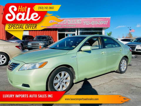 2008 Toyota Camry Hybrid for sale at LUXURY IMPORTS AUTO SALES INC in North Branch MN