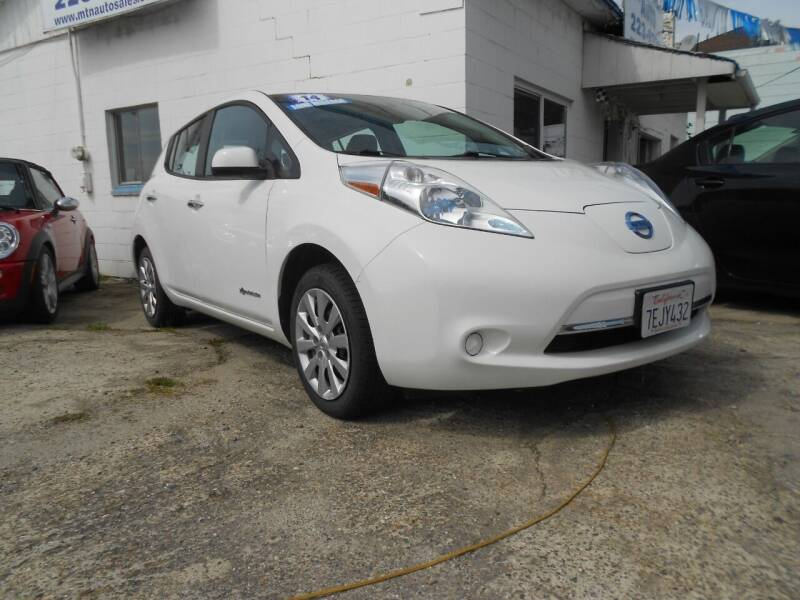2014 Nissan LEAF for sale at Mountain Auto in Jackson CA