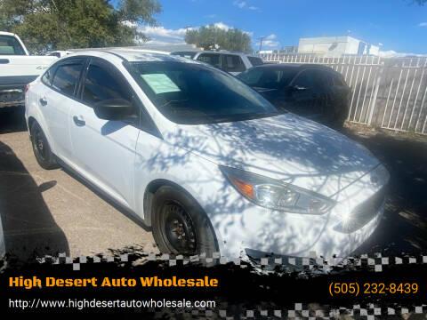 2015 Ford Focus for sale at High Desert Auto Wholesale in Albuquerque NM