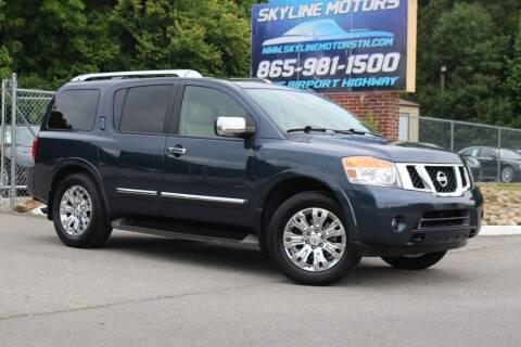 2015 Nissan Armada for sale at Skyline Motors in Louisville TN