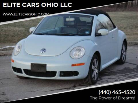 2006 Volkswagen New Beetle Convertible for sale at ELITE CARS OHIO LLC in Solon OH