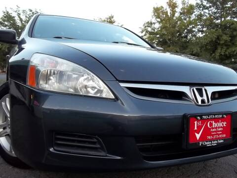 2006 Honda Accord for sale at 1st Choice Auto Sales in Fairfax VA