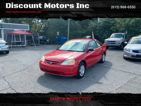 2001 Honda Civic for sale at Discount Motors Inc in Madison TN