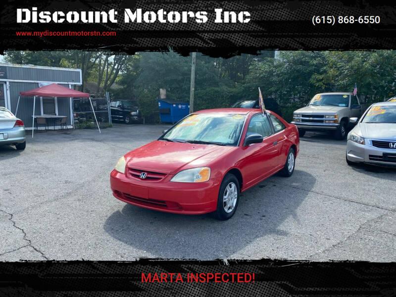 2001 Honda Civic for sale at Discount Motors Inc in Madison TN