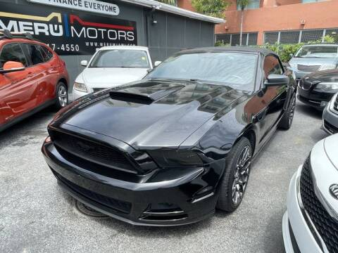 2014 Ford Mustang for sale at Meru Motors in Hollywood FL