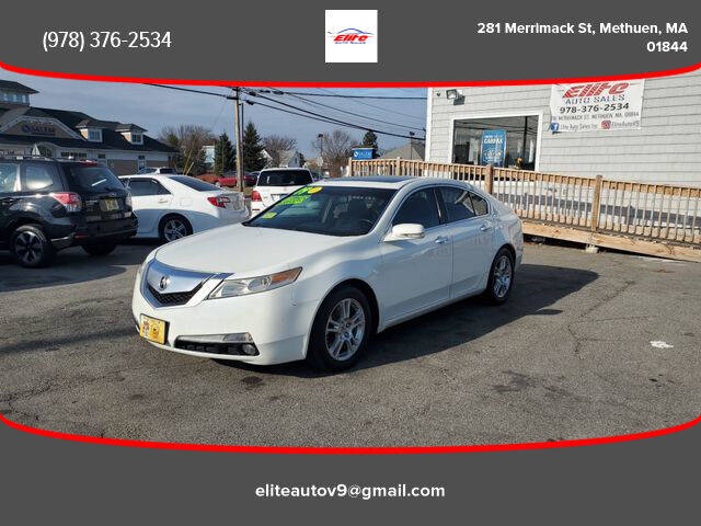 2009 Acura TL for sale at ELITE AUTO SALES, INC in Methuen MA