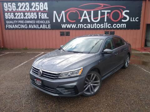 2017 Volkswagen Passat for sale at MC Autos LLC in Pharr TX